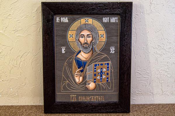 Икона Господа Вседержителя № 3-02 (Пантократор) из камня, Гливи, фото 11