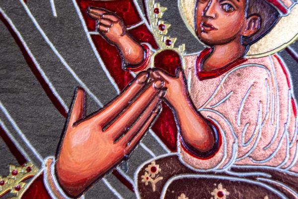 Икона Будславской Богоматери № 3-01, изображение, фото 2