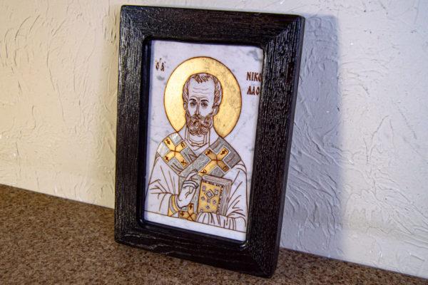 Икона Николая Чудотворца № № 4-26 из камня, от Гливи, фото 2