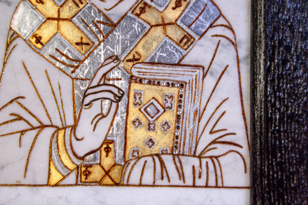 Икона Николая Чудотворца № № 4-26 из камня, от Гливи, фото 3