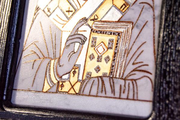 Икона Николая Чудотворца № № 4-26 из камня, от Гливи, фото 6