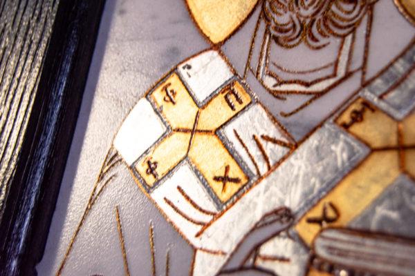 Икона Николая Чудотворца № № 4-26 из камня, от Гливи, фото 7
