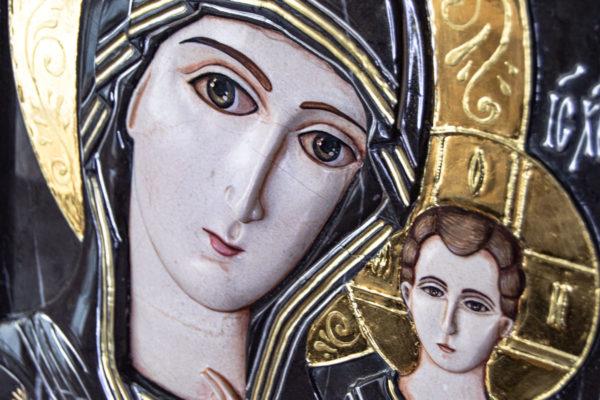 Икона Казанской Божией Матери № 3-12-7 из мрамора, камня, от Гливи, фото 4