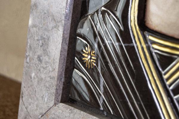 Икона Казанской Божией Матери № 3-12-7 из мрамора, камня, от Гливи, фото 5