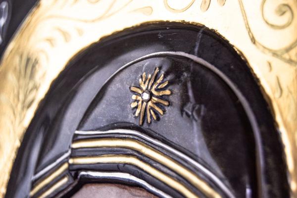 Икона Казанской Божией Матери № 3-12-7 из мрамора, камня, от Гливи, фото 6