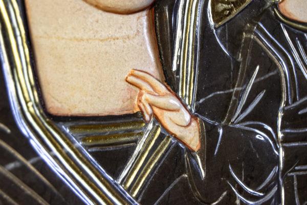 Икона Казанской Божией Матери № 3-12-7 из мрамора, камня, от Гливи, фото 9