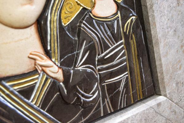 Икона Казанской Божией Матери № 3-12-7 из мрамора, камня, от Гливи, фото 11