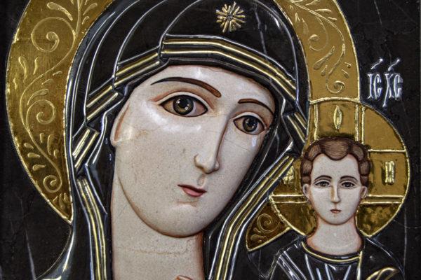 Икона Казанской Божией Матери № 3-12-7 из мрамора, камня, от Гливи, фото 12