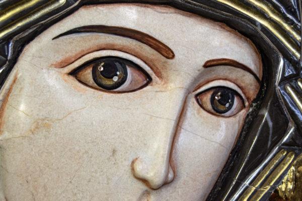 Икона Казанской Божией Матери № 3-12-7 из мрамора, камня, от Гливи, фото 14