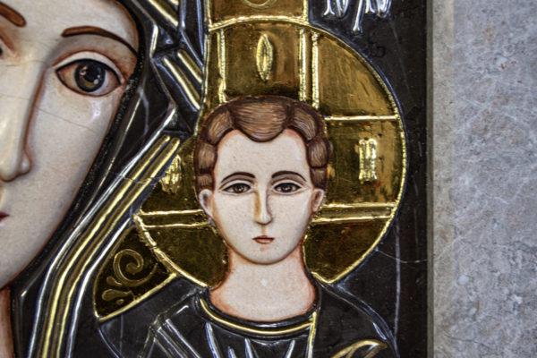 Икона Казанской Божией Матери № 3-12-7 из мрамора, камня, от Гливи, фото 16