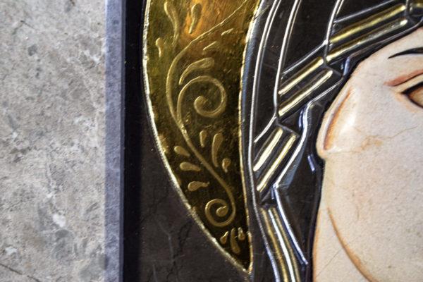 Икона Казанской Божией Матери № 3-12-7 из мрамора, камня, от Гливи, фото 17
