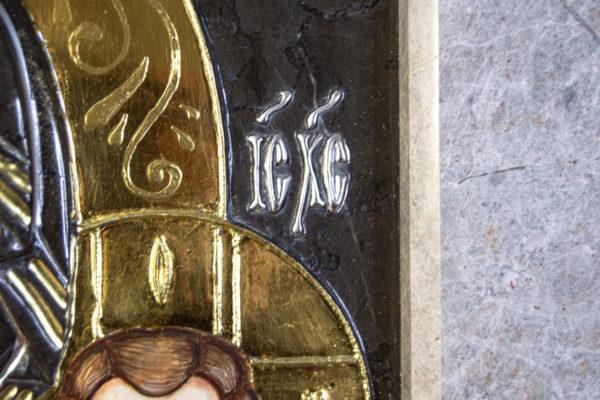 Икона Казанской Божией Матери № 3-12-7 из мрамора, камня, от Гливи, фото 18