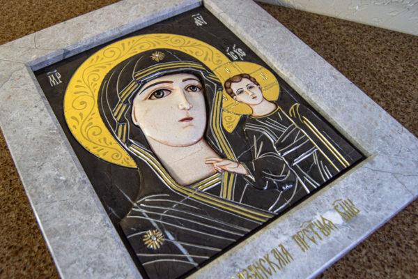 Икона Казанской Божией Матери № 3-12-7 из мрамора, камня, от Гливи, фото 20