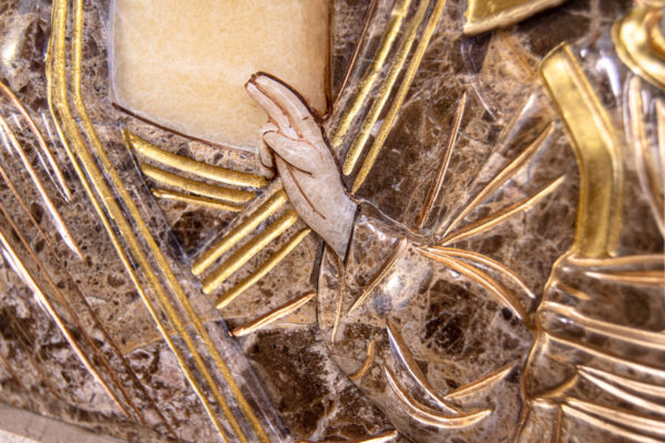 Икона Казанской Божией Матери № 4-12-2 из мрамора, камня, от Гливи, фото 8
