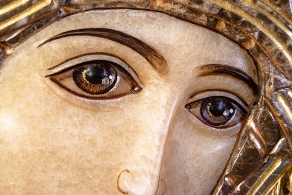 Икона Казанской Божией Матери № 4-12-2 из мрамора, камня, от Гливи, фото 13