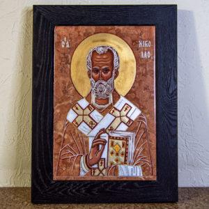 Икона Николая Чудотворца № № 4-27 из камня, от Гливи, фото 8