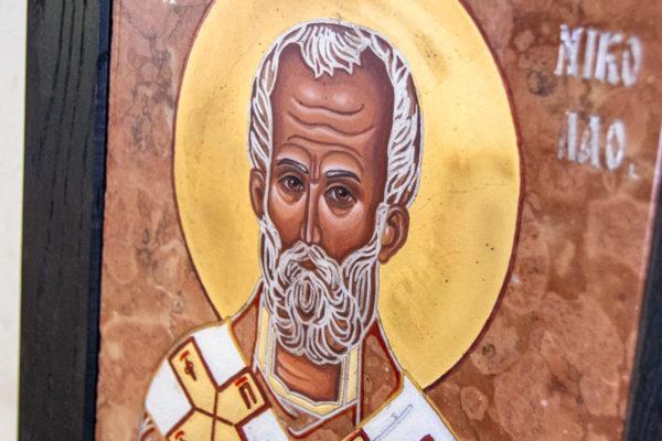 Икона Николая Чудотворца № № 4-27 из камня, от Гливи, фото 6