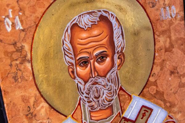 Икона Николая Чудотворца № № 4-27 из камня, от Гливи, фото 7