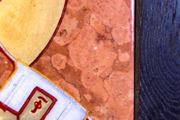 Икона Николая Чудотворца № № 4-27 из камня, от Гливи, фото 1