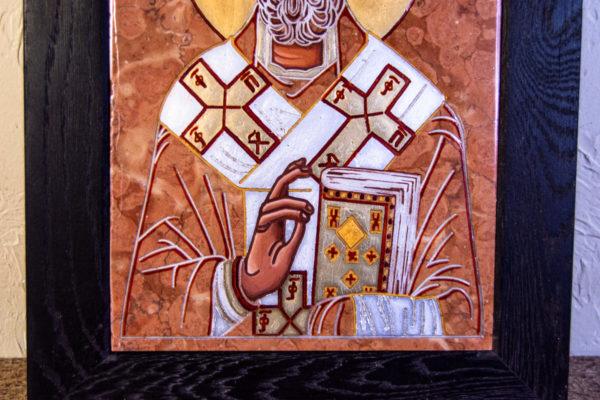 Икона Николая Чудотворца № № 4-27 из камня, от Гливи, фото 2