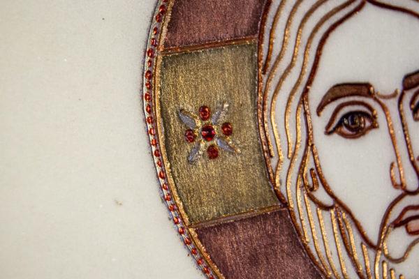Икона Господа Вседержителя № 3-03 (Пантократор) из камня, Гливи, фото 1