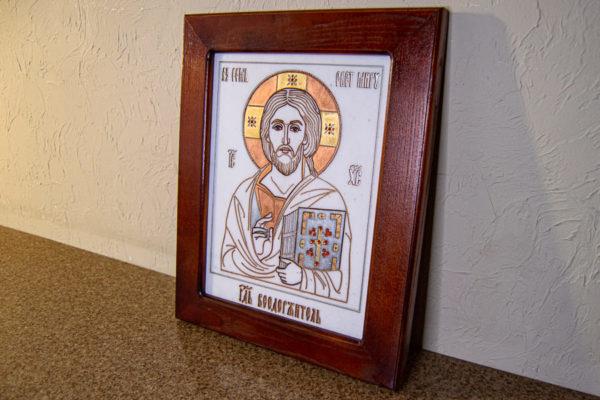 Икона Господа Вседержителя № 3-03 (Пантократор) из камня, Гливи, фото 9