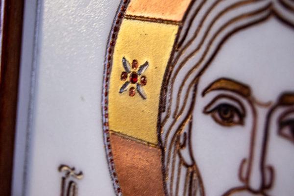 Икона Господа Вседержителя № 3-03 (Пантократор) из камня, Гливи, фото 5