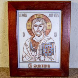 Икона Господа Вседержителя № 3-03 (Пантократор) из камня, Гливи, фото 3