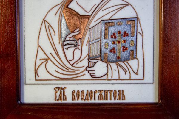 Икона Господа Вседержителя № 3-03 (Пантократор) из камня, Гливи, фото 14