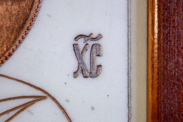 Икона Господа Вседержителя № 3-03 (Пантократор) из камня, Гливи, фото 13
