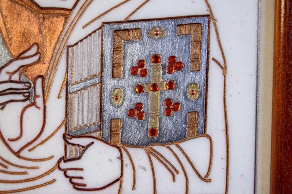 Икона Господа Вседержителя № 3-03 (Пантократор) из камня, Гливи, фото 12