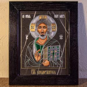 Икона Господа Вседержителя № 3-05 (Пантократор) из камня, Гливи, фото 1