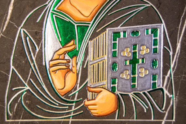 Икона Господа Вседержителя № 3-05 (Пантократор) из камня, Гливи, фото 3