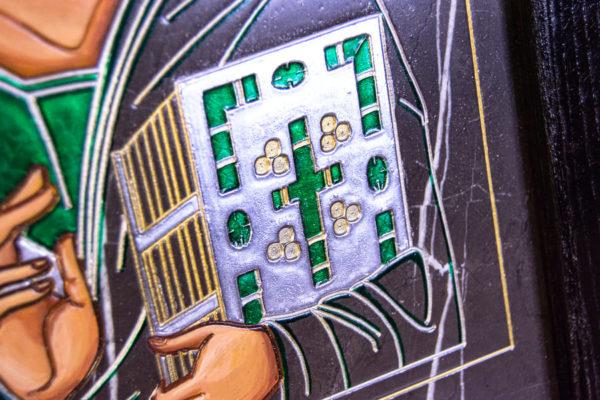 Икона Господа Вседержителя № 3-05 (Пантократор) из камня, Гливи, фото 5