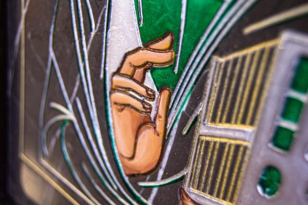 Икона Господа Вседержителя № 3-05 (Пантократор) из камня, Гливи, фото 11