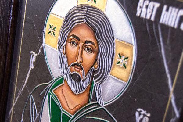 Икона Господа Вседержителя № 3-05 (Пантократор) из камня, Гливи, фото 12
