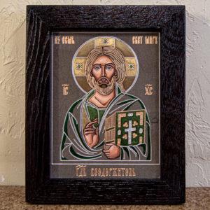 Икона Господа Вседержителя № 3-04 (Пантократор) из камня, Гливи, фото 1