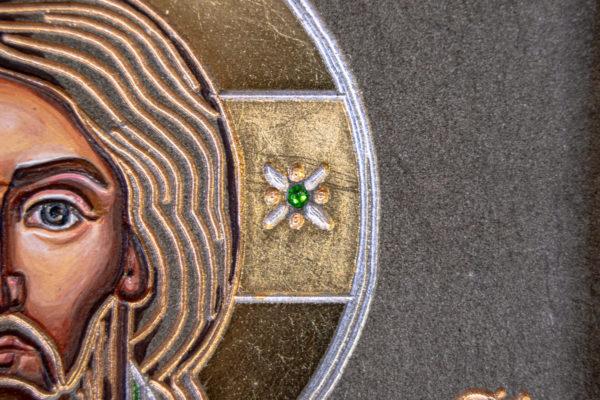 Икона Господа Вседержителя № 3-04 (Пантократор) из камня, Гливи, фото 3