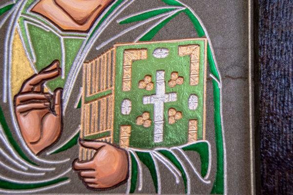 Икона Господа Вседержителя № 3-04 (Пантократор) из камня, Гливи, фото 4
