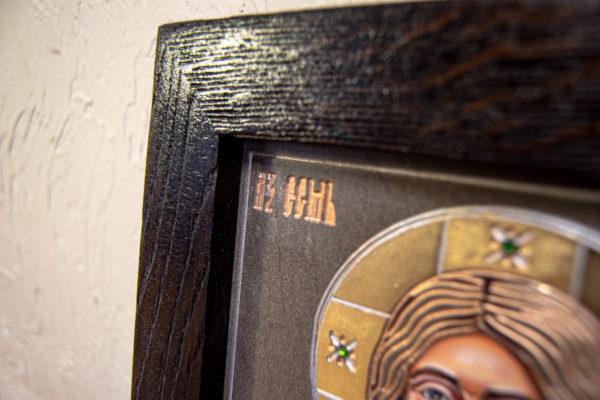 Икона Господа Вседержителя № 3-04 (Пантократор) из камня, Гливи, фото 9