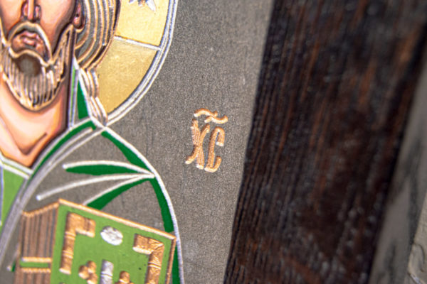 Икона Господа Вседержителя № 3-04 (Пантократор) из камня, Гливи, фото 10