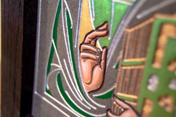 Икона Господа Вседержителя № 3-04 (Пантократор) из камня, Гливи, фото 11