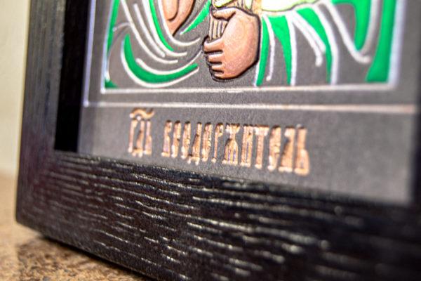 Икона Господа Вседержителя № 3-04 (Пантократор) из камня, Гливи, фото 12