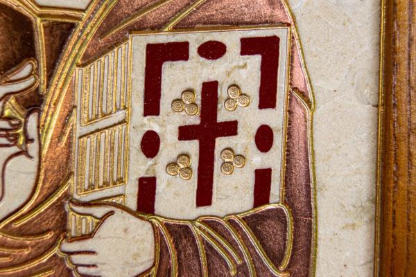 Икона Господа Вседержителя № 3-06 (Пантократор) из камня, Гливи, фото 3