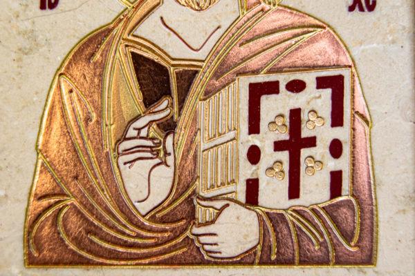 Икона Господа Вседержителя № 3-06 (Пантократор) из камня, Гливи, фото 5