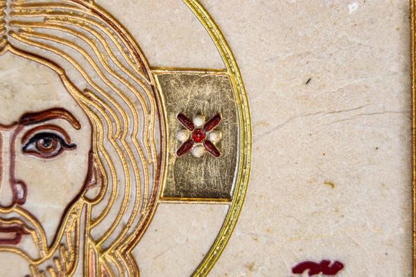 Икона Господа Вседержителя № 3-06 (Пантократор) из камня, Гливи, фото 6