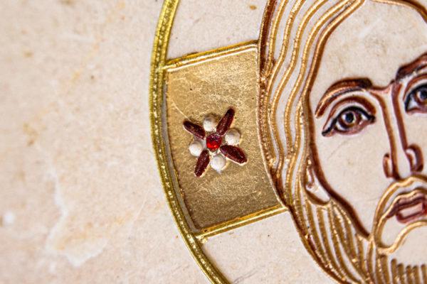 Икона Господа Вседержителя № 3-06 (Пантократор) из камня, Гливи, фото 10