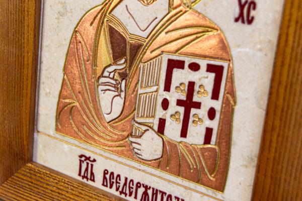 Икона Господа Вседержителя № 3-06 (Пантократор) из камня, Гливи, фото 13