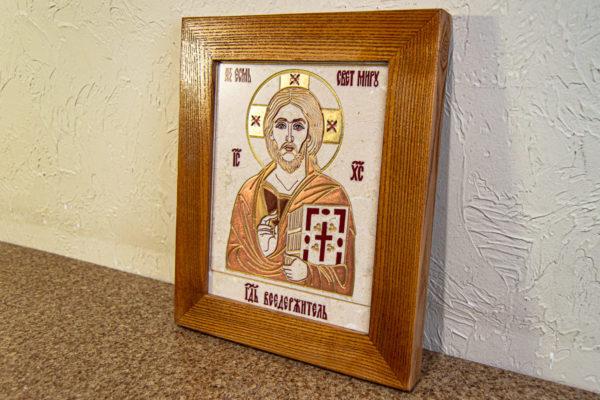 Икона Господа Вседержителя № 3-06 (Пантократор) из камня, Гливи, фото 14