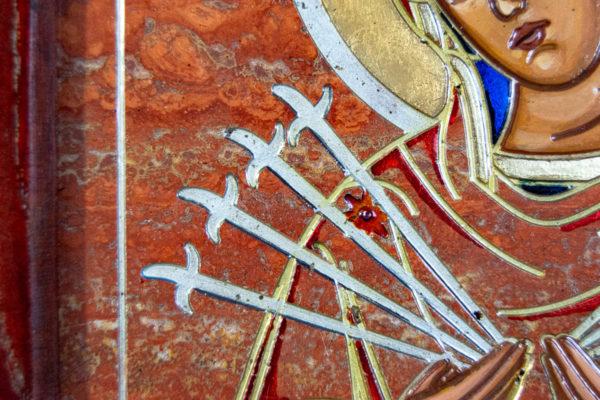 Икона Семистрельная № 4-12 из камня, от Гливи, фото 17